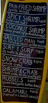 shrimp shack menu